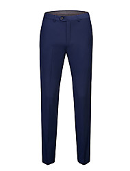 cheap -Men's Basic Suits Pants - Solid Colored Black / White / Blue, Classic Black Wine White 30 31 32