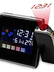 cheap -Projection Led Alarm Clock Digital Date Snooze Function Backlight Rotatable Wake Up