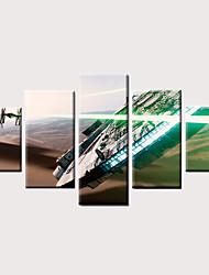 Недорогие -С картинкой Роликовые холсты Отпечатки на холсте - Фото Модерн Винтаж Modern 5 панелей Репродукции