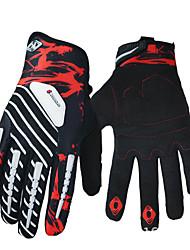 cheap -BOODUN Winter Bike Gloves / Cycling Gloves Mountain Bike MTB Thermal / Warm Windproof Breathable Anti-Slip Full Finger Gloves Touch Screen Gloves Sports Gloves Lycra Black / Red Green / Black Black