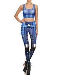 cheap -Catsuit Swimsuit Swimwear Cosplay Costumes Beach Girl Adults' Cosplay Costumes Cosplay Halloween Women's Sky Blue Printing Christmas Halloween Carnival / Vest / Pants / Vest / Pants