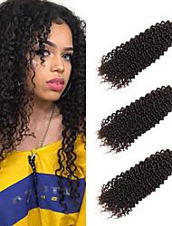 cheap -3 Bundles Brazilian Hair Wavy Kinky Curly Unprocessed Human Hair Headpiece Natural Color Hair Weaves / Hair Bulk Bundle Hair 8-28 inch Natural Human Hair Weaves Odor Free Valentine Women Human Hair