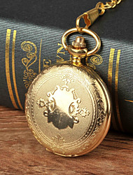 cheap -Men's Pocket Watch Necklace Watch Quartz Gold New Design Cool Analog Cartoon New Arrival Aristo - Gold