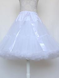 cheap -Ballet Classic Lolita 1950s Dress Petticoat Hoop Skirt Tutu Crinoline Women's Girls' Cotton Costume Black / White / Red Vintage Cosplay Party Performance Princess