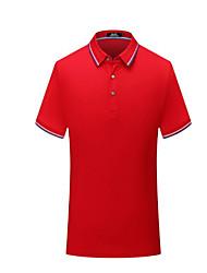 abordables -Homme Tee Shirt Manches Courtes Tennis Athleisure De plein air Eté / Coton / Respirable
