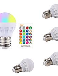 cheap -5pcs 3 W LED Smart Bulbs 200-250 lm E26 / E27 1 LED Beads SMD 5050 Smart Dimmable Remote-Controlled RGBW 85-265 V / RoHS