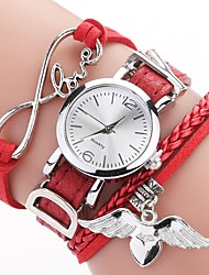 cheap -Women's Bracelet Watch Quartz Stylish Braided Bohemian Casual Watch Analog Light Brown Lace Black Red / One Year / PU Leather / One Year