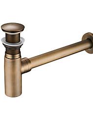 abordables -Accessoire de robinet - Qualité supérieure - Moderne Cuivre Drain d'eau automatique sans trop-plein - terminer - Chrome
