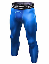 cheap -YUERLIAN Men's Running Tights Compression Pants Black White Blue Gray Running Fitness Gym Workout Leggings Pants Sport Activewear Thermal / Warm Breathable Moisture Wicking Power Flex High Elasticity