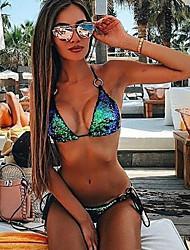abordables -Femme Argent Rouge Fuchsia Bikinis Maillots de Bain - Couleur Pleine Paillettes M L XL Argent