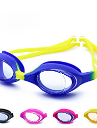 cheap -Swimming Goggles Waterproof Portable Anti-Fog For Kid's Silicone Rubber PC Yellows Pink Blues