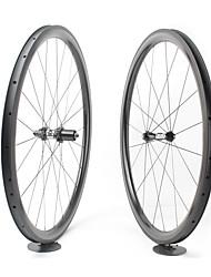 cheap -FARSPORTS 700CC Wheelsets Cycling 23 mm Road Bike Carbon Fiber Clincher 20/24 Spokes 38 mm