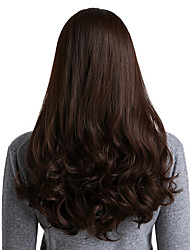 cheap -Synthetic Wig Ombre Curly Natural Wave Middle Part Wig Medium Length Long Brown Synthetic Hair 26 inch Women's Synthetic New Comfortable Brown / African American Wig / Doll Wig / For Black Women