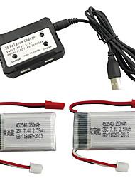cheap -MJX X401H X402 7.4V 350mAh 1 set Battery / Power Adapter