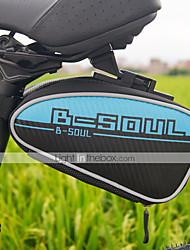 cheap -B-SOUL 2L Bike Saddle Bag Multifunctional Reflective Waterproof Zipper Bike Bag PU Leather Nylon Oxford Bicycle Bag Cycle Bag Cycling / Bike