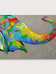 cheap -IARTS®Hand Painted Elephant head Oil Painting with Stretched Frame For Home Decoration