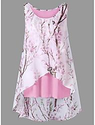 cheap -Women's Plus Size Tank Top - Floral Floral / Fashion Black XXXL / Spring / Summer / Fall / Winter