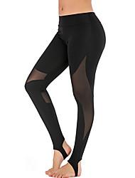 cheap -Activewear Pants Split Joint Women's Training Performance Natural Elastic Elastane Polyster
