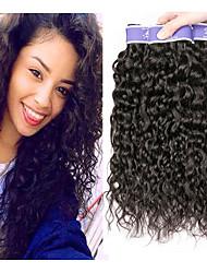 Недорогие -3 Связки Бразильские волосы Волнистые Необработанные натуральные волосы 100% Remy Hair Weave Bundles 300 g Головные уборы Человека ткет Волосы Пучок волос 8-28 дюймовый Нейтральный Естественный цвет