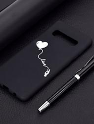 Недорогие -Кейс для Назначение SSamsung Galaxy S9 / S9 Plus / Galaxy S10 Защита от пыли / Матовое / С узором Кейс на заднюю панель С сердцем Мягкий ТПУ