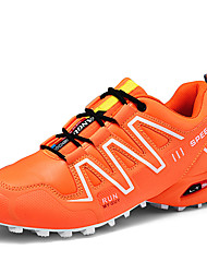 cheap -Men's Comfort Shoes Synthetics Fall / Spring & Summer Sporty / Vintage Athletic Shoes Hiking Shoes Non-slipping Color Block Black / Orange / Green / Wear Proof