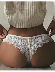 cheap -Women's Lace / Basic G-strings & Thongs Panties - Normal Low Waist Black White S M L