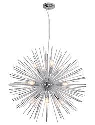 cheap -75cm Nordic Style Globe Metal Chandeliers Firework 12-Light Modern Living Room Dining Room Pendant Lights E12/E14 Bulb Base