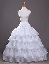 cheap -Bride Classic Lolita 1950s Dress Petticoat Hoop Skirt Crinoline Women's Girls' Tulle Costume Black / White Vintage Cosplay Party Performance Princess
