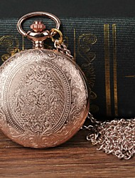 cheap -Men's Pocket Watch Quartz Rose Gold Casual Watch Large Dial Analog Flower Fashion - Rose Gold