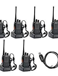 Недорогие -BAOFENG 888S Аналоговая С программным управлением через ПК / Функция сохранения энергии / Шифрование 3 - 5 км 3 - 5 км 1500 mAh 5 W Walkie Talkie Двухстороннее радио