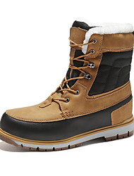 cheap -Men's Snow Boots PU Fall / Winter Sporty / Casual Boots Warm Mid-Calf Boots Brown / Gray