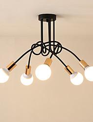 cheap -OYLYW 5-Light 70 cm Cute Flush Mount Lights Metal Sputnik Painted Finishes Country / Modern 110-120V / 220-240V