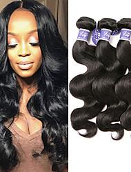 cheap -3 Bundles Malaysian Hair Body Wave Unprocessed Human Hair 100% Remy Hair Weave Bundles Headpiece Natural Color Hair Weaves / Hair Bulk Bundle Hair 8-28 inch Natural Human Hair Weaves Odor Free Women