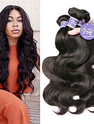 cheap -4 Bundles Brazilian Hair Body Wave Unprocessed Human Hair 100% Remy Hair Weave Bundles Natural Color Hair Weaves / Hair Bulk Human Hair Extensions 8-28 inch Natural Human Hair Weaves Fashionable