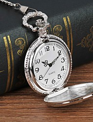 cheap -Men's Pocket Watch Quartz Silver Casual Watch Large Dial Analog Traditional / Vintage Casual - Silver