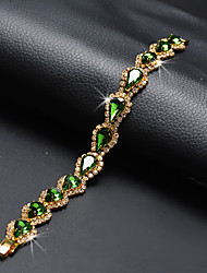 cheap -Women's Green Chain Bracelet Classic Precious Stylish Luxury Rhinestone Bracelet Jewelry Green For Wedding Festival