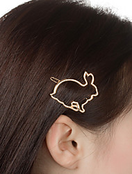 cheap -Women's Trendy Fashion Cute Alloy Hair Charms Solid Colored