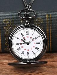cheap -Men's Pocket Watch Quartz Black Casual Watch Large Dial Analog Casual Fashion - Black