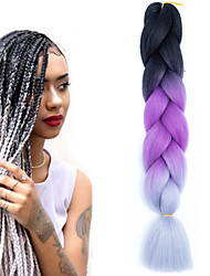 cheap -Braiding Hair Hair Braids Multi-color 24.4inch(Approx.62cm) Color Gradient Youth Daily Wear Vacation
