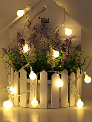 cheap -1.5m String Lights 10 LEDs 1 set Warm White RGB White Creative Party Decorative AA Batteries Powered