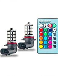 cheap -1pcs H7/H4/9005 Car Light Bulbs SMD 5050 LED Fog Lights Multi-color conversion LED light with remote control