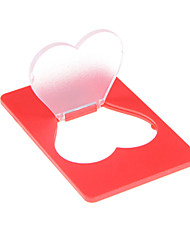 cheap -Novelty Portable Heart Shap LED Card Light Pocket Lamp Put In Purse Wallet Emergency Light Multicolour