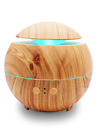 cheap -Water Drop Humidifier Aromatherapy Machine Ultrasound Seven-color Aromatherapy Lamp Water Drop Humidifier Wooden Household Aromatherapy MachineShallow Wood Grain