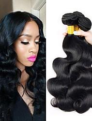 Недорогие -3 Связки Бразильские волосы Естественные кудри человеческие волосы Remy 150 g Человека ткет Волосы Удлинитель Пучок волос 8-28 дюймовый Естественный цвет Ткет человеческих волос