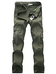 cheap -Men's Hiking Pants Winter Outdoor Breathable Quick Dry Sweat-wicking Multi-Pocket Cotton Pants / Trousers Bottoms Climbing Camping / Hiking / Caving Black Army Green 27 28 29 30 31