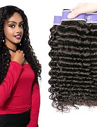 Недорогие -3 Связки Перуанские волосы Крупные кудри Необработанные натуральные волосы 100% Remy Hair Weave Bundles 300 g Человека ткет Волосы Пучок волос Накладки из натуральных волос 8-28 дюймовый / Без запаха