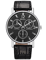 cheap -Men's Dress Watch Aviation Watch Quartz Leather Black / Brown Casual Watch Analog Fashion Minimalist Aristo - Brown Blue Black / White One Year Battery Life / Stainless Steel