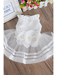 cheap -Wedding Textile Dog Clothes Fashion / Dog Wedding Dress Skirt - 1 pcs