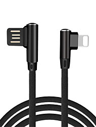 cheap -90 Degree USB Cable for iPhone / iPad Fast Charger Cables Mobile Phone Charging