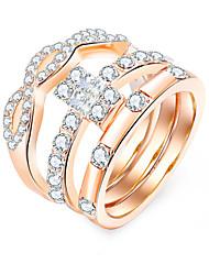 cheap -Ring Gold Rhinestone Alloy Simple European Fashion 1pc 6 7 8 9 / Women's / Ring Set